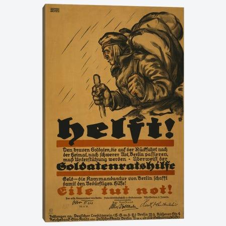 Help!, 1918  Canvas Print #BMN4105} by Louis Oppenheim Canvas Art