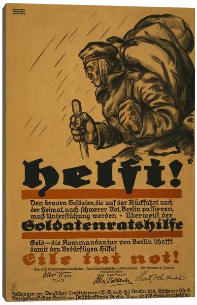 Help!, 1918  Canvas Art Print