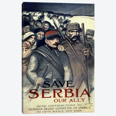 Save Serbia, Our Ally, 1916  Canvas Print #BMN4106} by Theophile Alexandre Steinlen Canvas Art