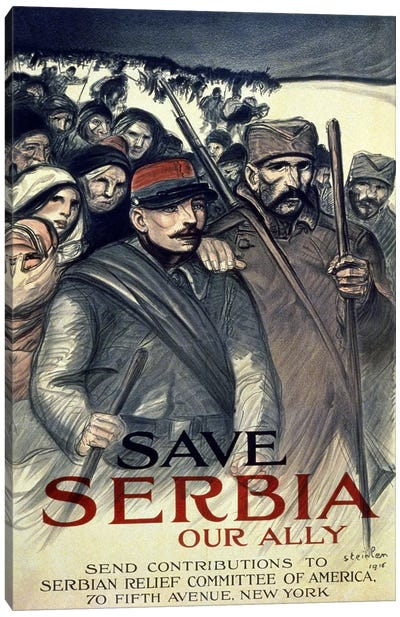 Save Serbia, Our Ally, 1916  Canvas Art Print