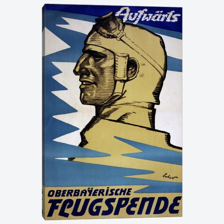 Onwards: Upper Bavarian Aviation Fund, 1916  Canvas Print #BMN4107} by Fritz Erler Canvas Artwork