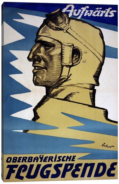 Onwards: Upper Bavarian Aviation Fund, 1916  Canvas Art Print