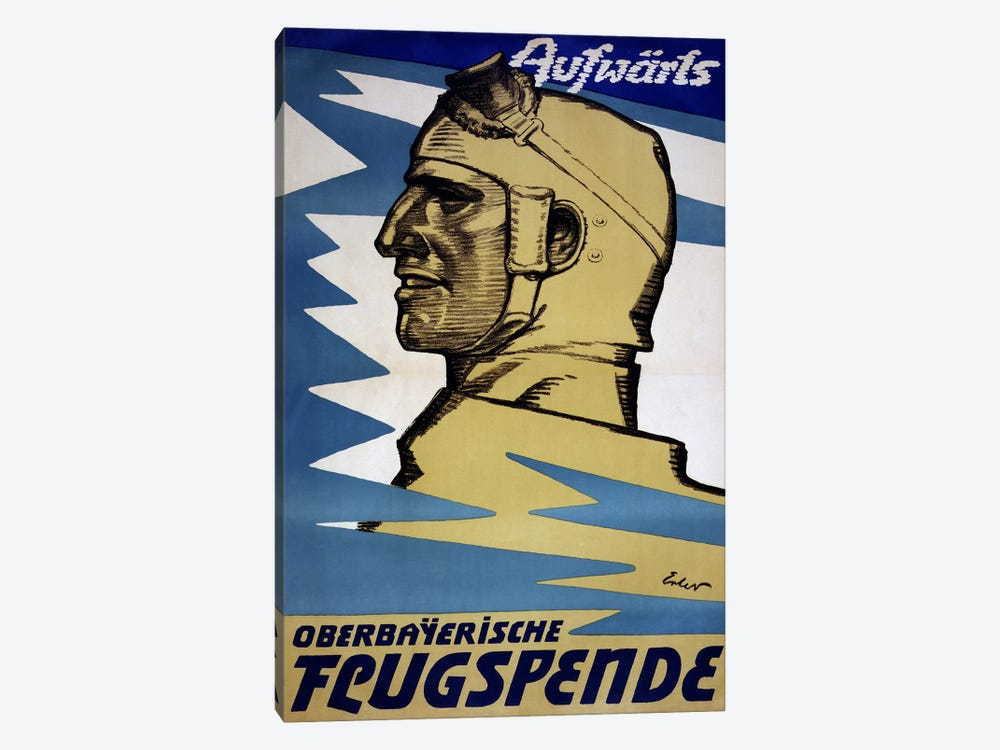 Onwards: Upper Bavarian Aviation Fund, 1916  by Fritz Erler 1-piece Canvas Print