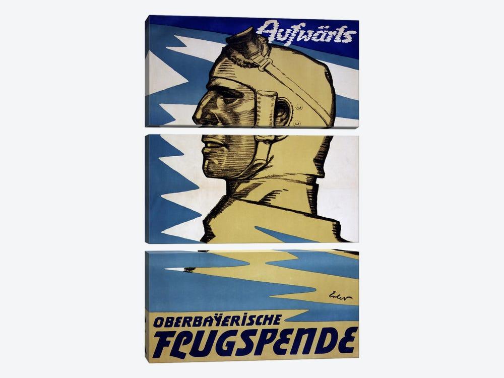 Onwards: Upper Bavarian Aviation Fund, 1916  by Fritz Erler 3-piece Canvas Art Print