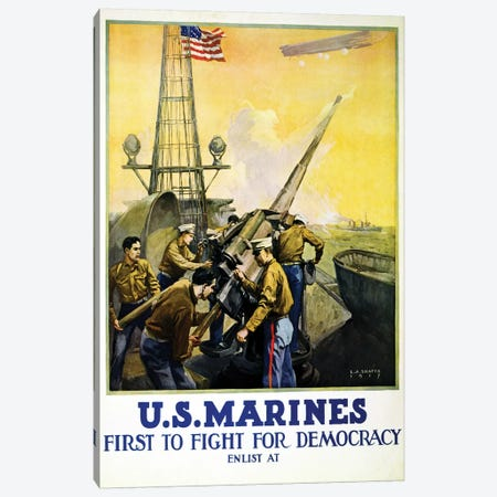 U.S. Marines, 1917  Canvas Print #BMN4108} by Leon Alaric Shafer Canvas Print
