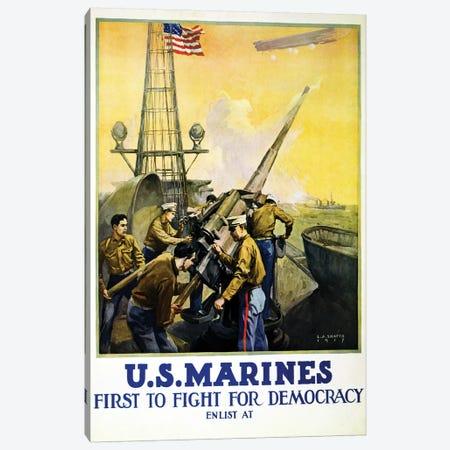 U.S. Marines, 1917  3-Piece Canvas #BMN4108} by Leon Alaric Shafer Canvas Print