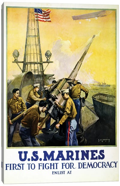 U.S. Marines, 1917  Canvas Art Print