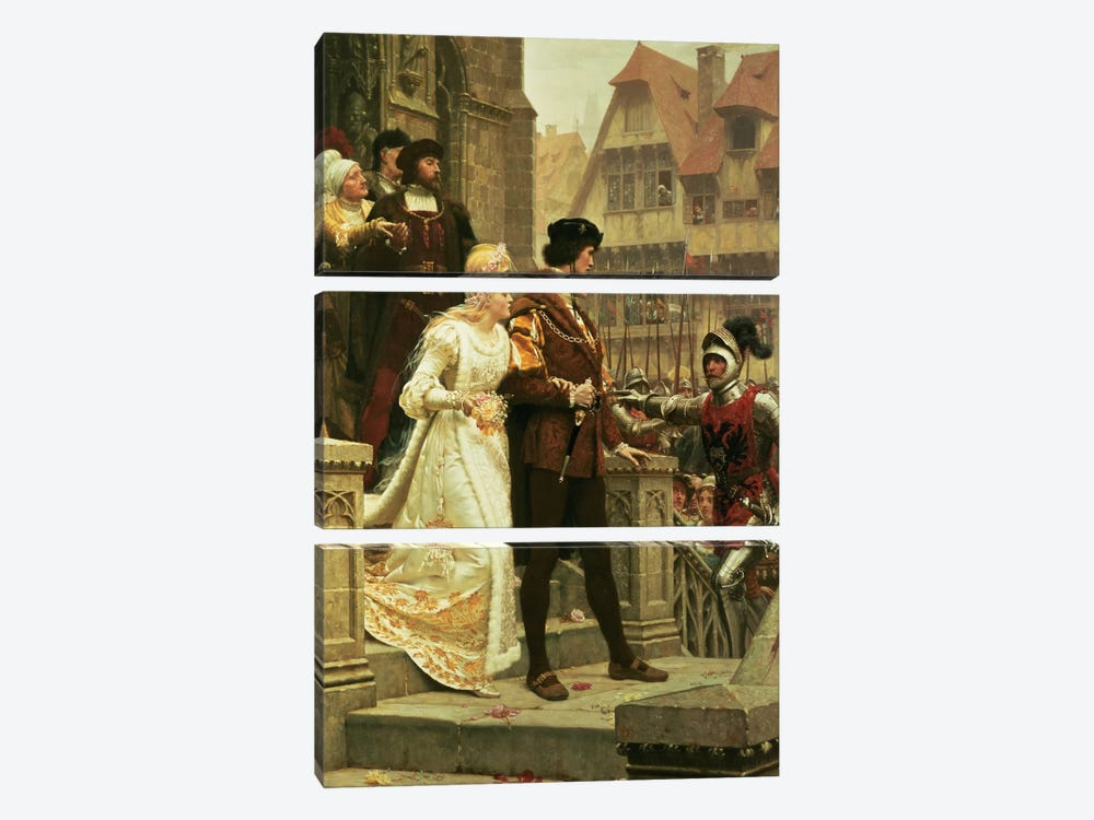 Call to Arms, 1888 by Edmund Blair Leighton 3-piece Canvas Print
