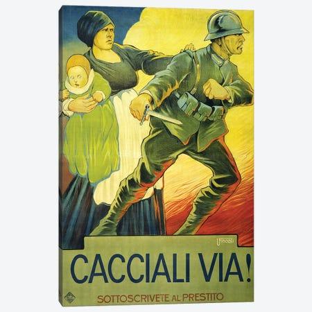 Drive Them Out!, 1914  Canvas Print #BMN4110} by Ugo Finozzi Canvas Wall Art