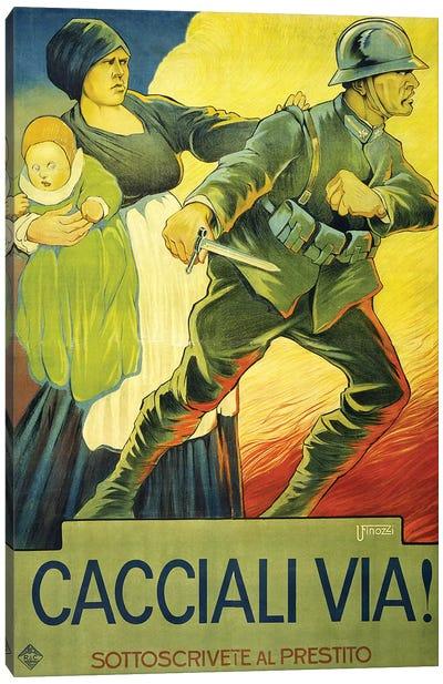 Drive Them Out!, 1914  Canvas Art Print