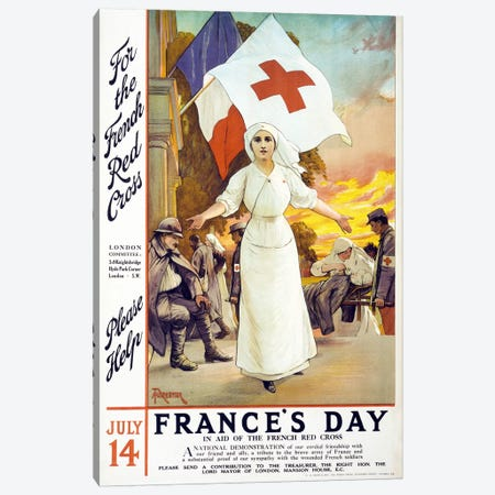 France's Day, 1915  Canvas Print #BMN4111} by Unknown Artist Canvas Wall Art