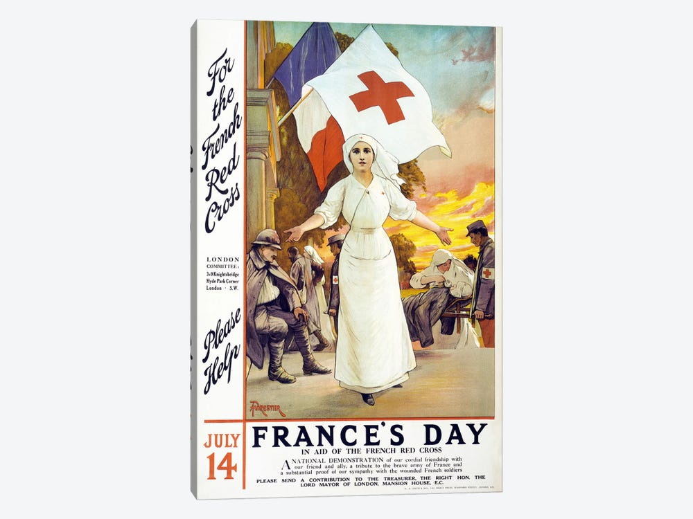 France's Day, 1915  by Unknown Artist 1-piece Canvas Art