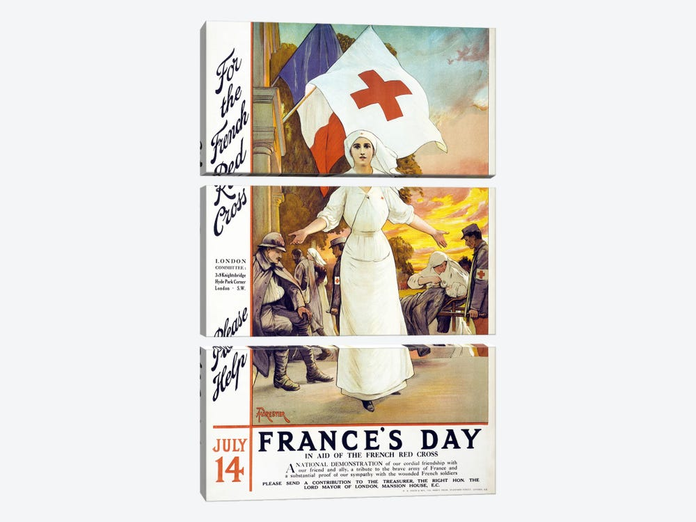France's Day, 1915  by Unknown Artist 3-piece Canvas Artwork