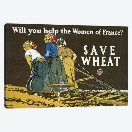 Save Wheat, 1918  Canvas Print #BMN4112} by Edward Penfield Canvas Art