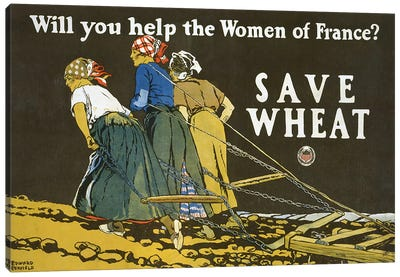 Save Wheat, 1918  Canvas Art Print