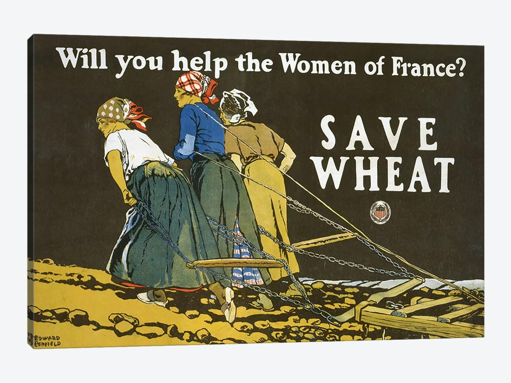 Save Wheat, 1918  by Edward Penfield 1-piece Canvas Art Print