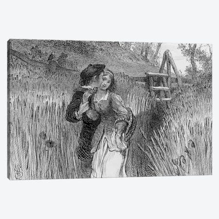 Comin'' Through the Rye, 1870  Canvas Print #BMN4119} by William Bell Scott Canvas Artwork