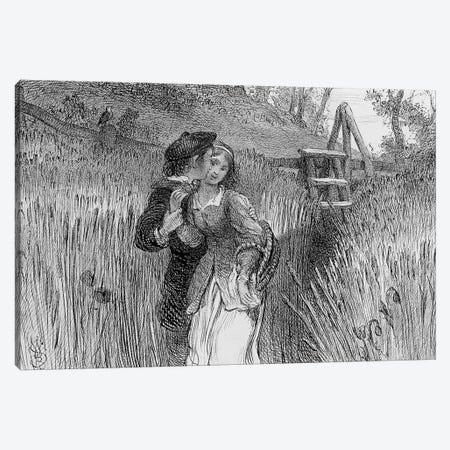 Comin'' Through the Rye, 1870  Canvas Print #BMN4119} by William Bell Scott Canvas Artwork