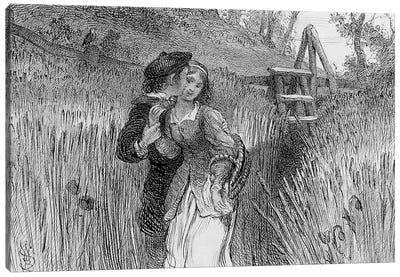 Comin'' Through the Rye, 1870  Canvas Art Print