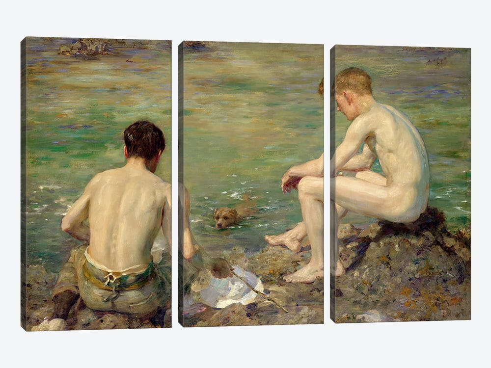 Three Companions by Henry Scott Tuke 3-piece Canvas Artwork