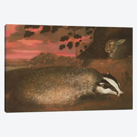 Badger, 17th century Canvas Print #BMN412} by Francis Barlow Canvas Print