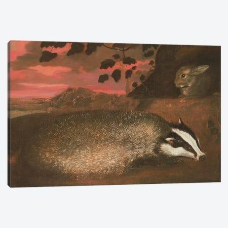Badger, 17th century Canvas Print #BMN412} by Francis Barlow Canvas Print