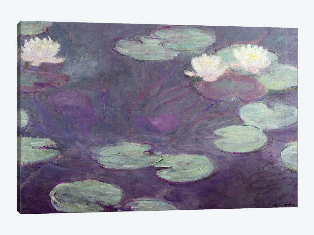 Waterlilies  by Claude Monet 1-piece Canvas Art Print