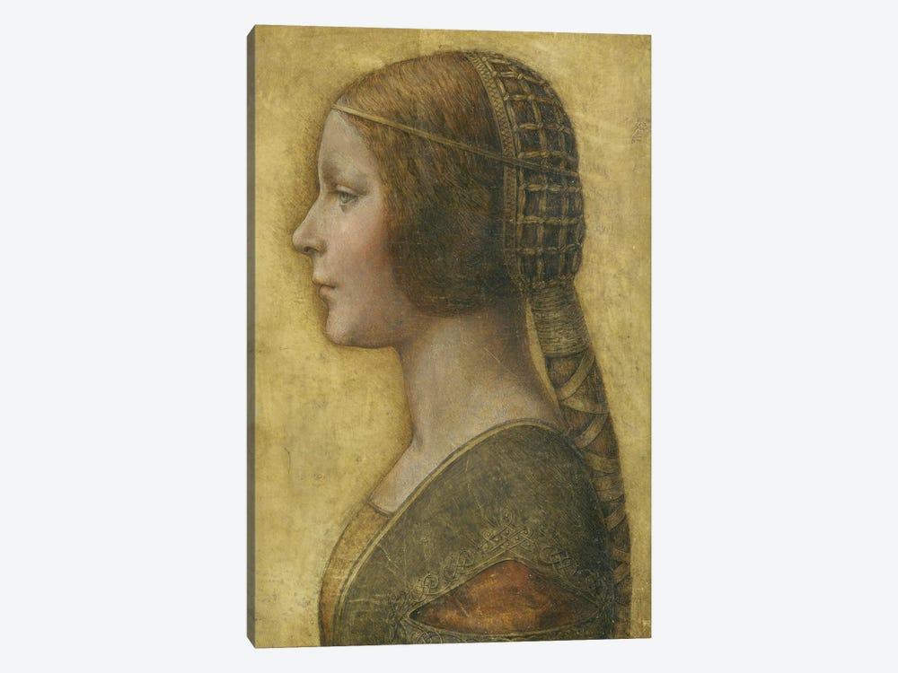 Profile of a Young Fiancee  by Leonardo da Vinci 1-piece Art Print