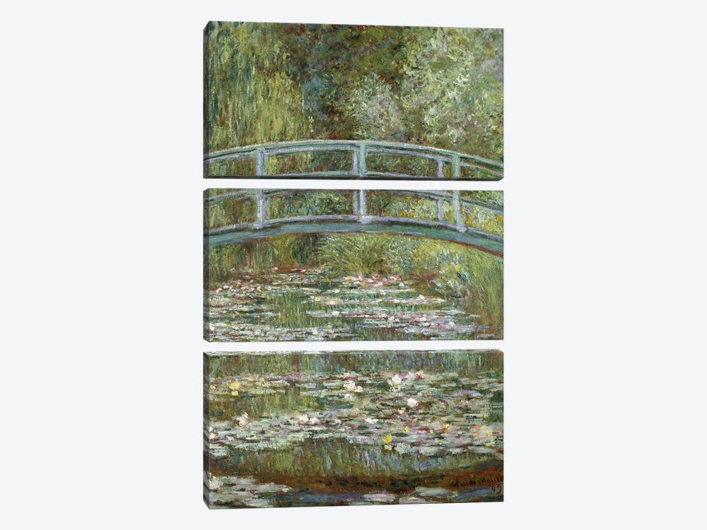 The Water-Lily Pond, 1899  by Claude Monet 3-piece Canvas Art