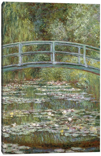 The Water-Lily Pond, 1899  Canvas Art Print