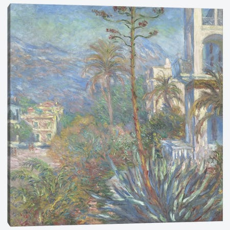 Villas at Bordighera, 1884  Canvas Print #BMN4134} by Claude Monet Canvas Print