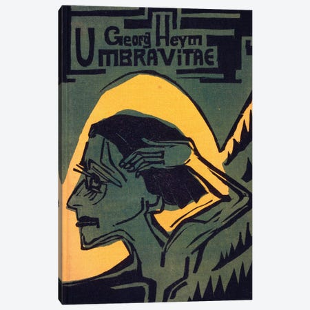 Cover of 'Umbra Vitae' by Georg Heym, published 1924  Canvas Print #BMN4135} by Ernst Ludwig Kirchner Canvas Art Print
