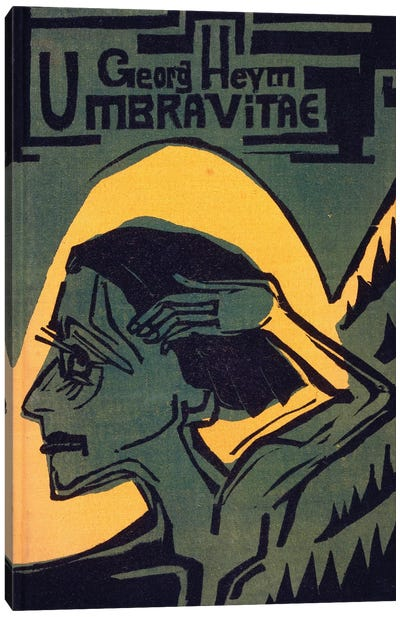 Cover of 'Umbra Vitae' by Georg Heym, published 1924  Canvas Art Print