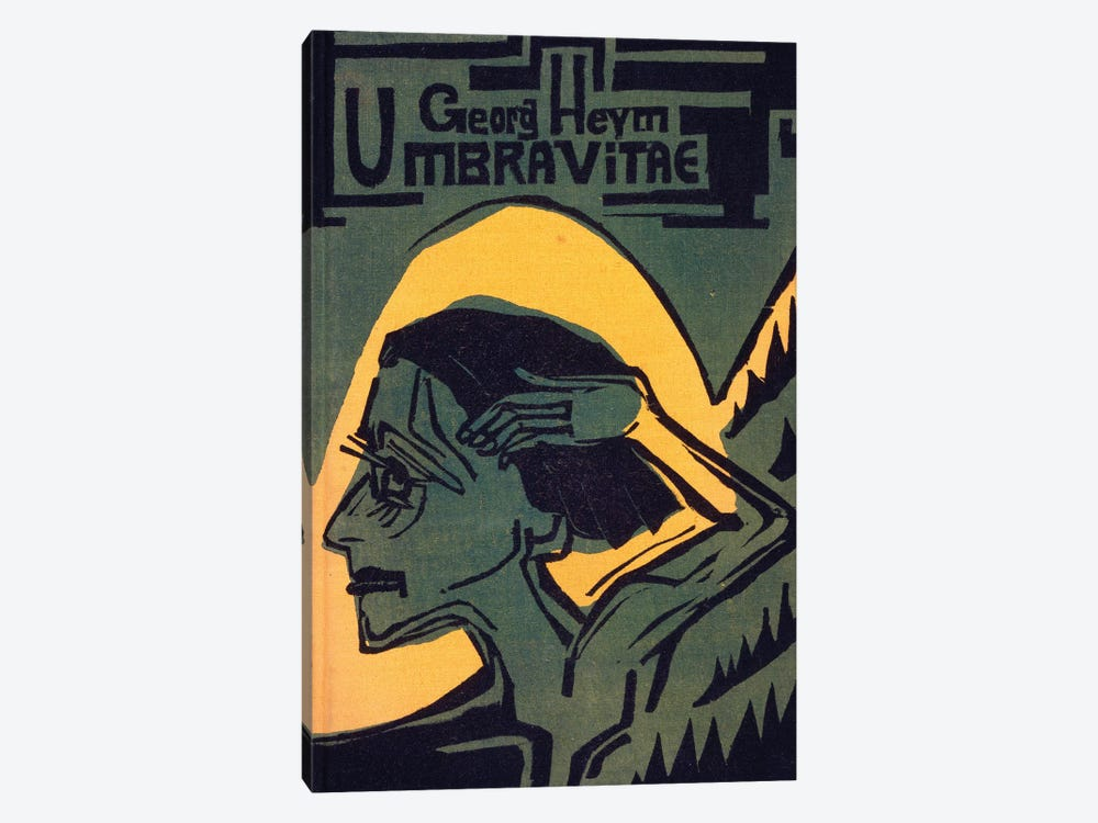 Cover of 'Umbra Vitae' by Georg Heym, published 1924  by Ernst Ludwig Kirchner 1-piece Canvas Art
