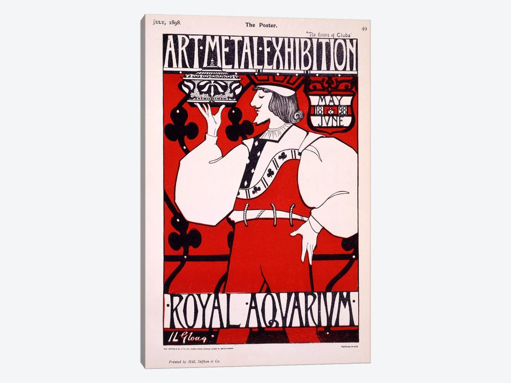 Poster for 'Art Metal Exhibition' at the Royal Aquarium, 1898  by Isobel Lilian Gloag 1-piece Canvas Print