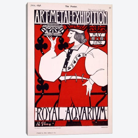 Poster for 'Art Metal Exhibition' at the Royal Aquarium, 1898  Canvas Print #BMN4136} by Isobel Lilian Gloag Art Print