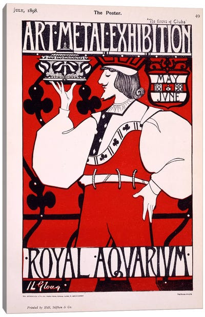 Poster for 'Art Metal Exhibition' at the Royal Aquarium, 1898  Canvas Art Print