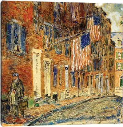 Acorn Street, Boston, 1919  Canvas Art Print