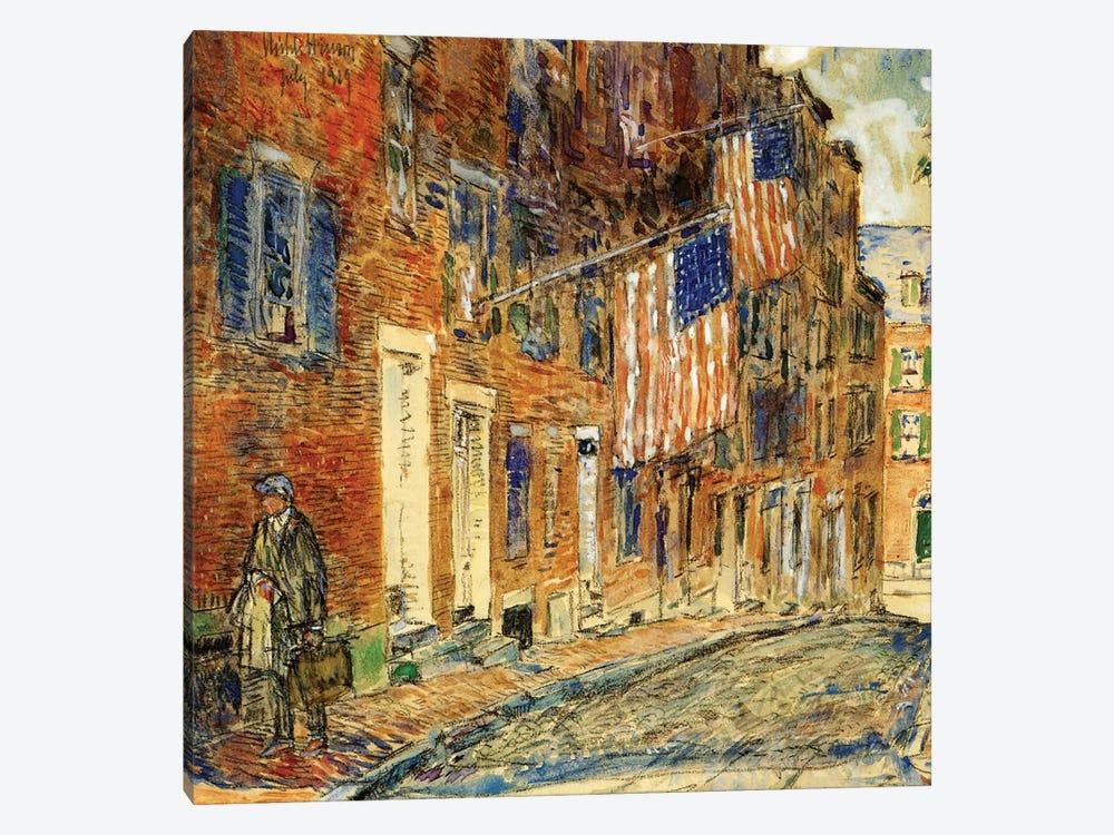 Acorn Street, Boston, 1919  by Childe Hassam 1-piece Canvas Artwork