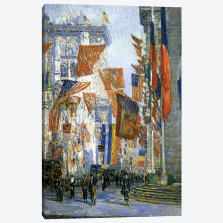 Avenue of the Allies, 1918  Canvas Print #BMN4141} by Childe Hassam Canvas Art Print