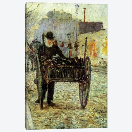 Old Man Carrying Bottles, 1892  Canvas Print #BMN4142} by Childe Hassam Art Print