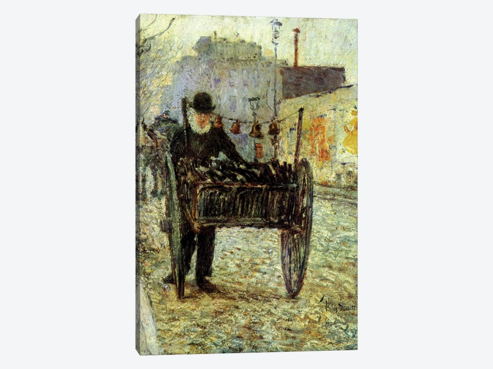 Old Man Carrying Bottles, 1892  by Childe Hassam 1-piece Canvas Artwork