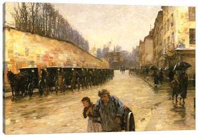 Cab Station, Rue Bonaparte, Paris, 1887  Canvas Art Print