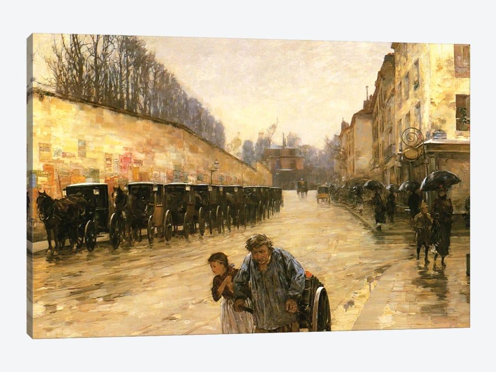 Cab Station, Rue Bonaparte, Paris, 1887  by Childe Hassam 1-piece Art Print