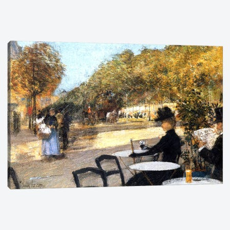 The Cafe Terrace, 1887-89  Canvas Print #BMN4144} by Childe Hassam Canvas Artwork