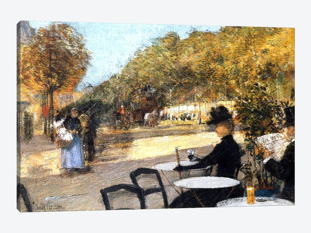 The Cafe Terrace, 1887-89  by Childe Hassam 1-piece Canvas Artwork