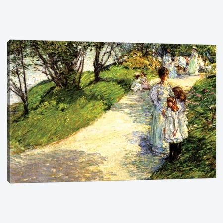Central Park, 1892  Canvas Print #BMN4145} by Childe Hassam Canvas Wall Art