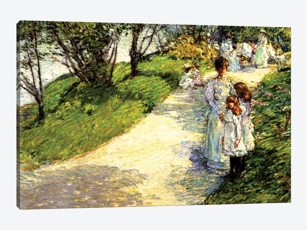 Central Park, 1892  by Childe Hassam 1-piece Canvas Print