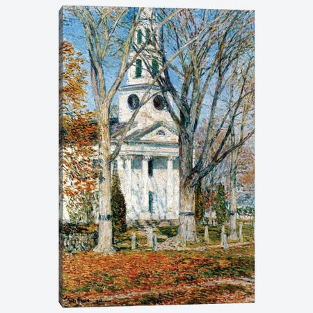 Church at Old Lyme, 1903  Canvas Print #BMN4147} by Childe Hassam Canvas Art