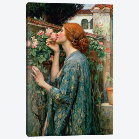 The Soul Of The Rose, 1908  Canvas Print #BMN414} by John William Waterhouse Canvas Wall Art